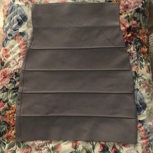 Grey BANDED SKIRT XS